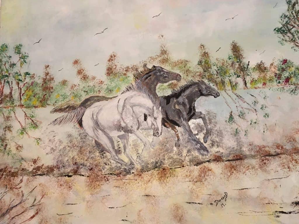 Galop de chevaux DURAND Maurice