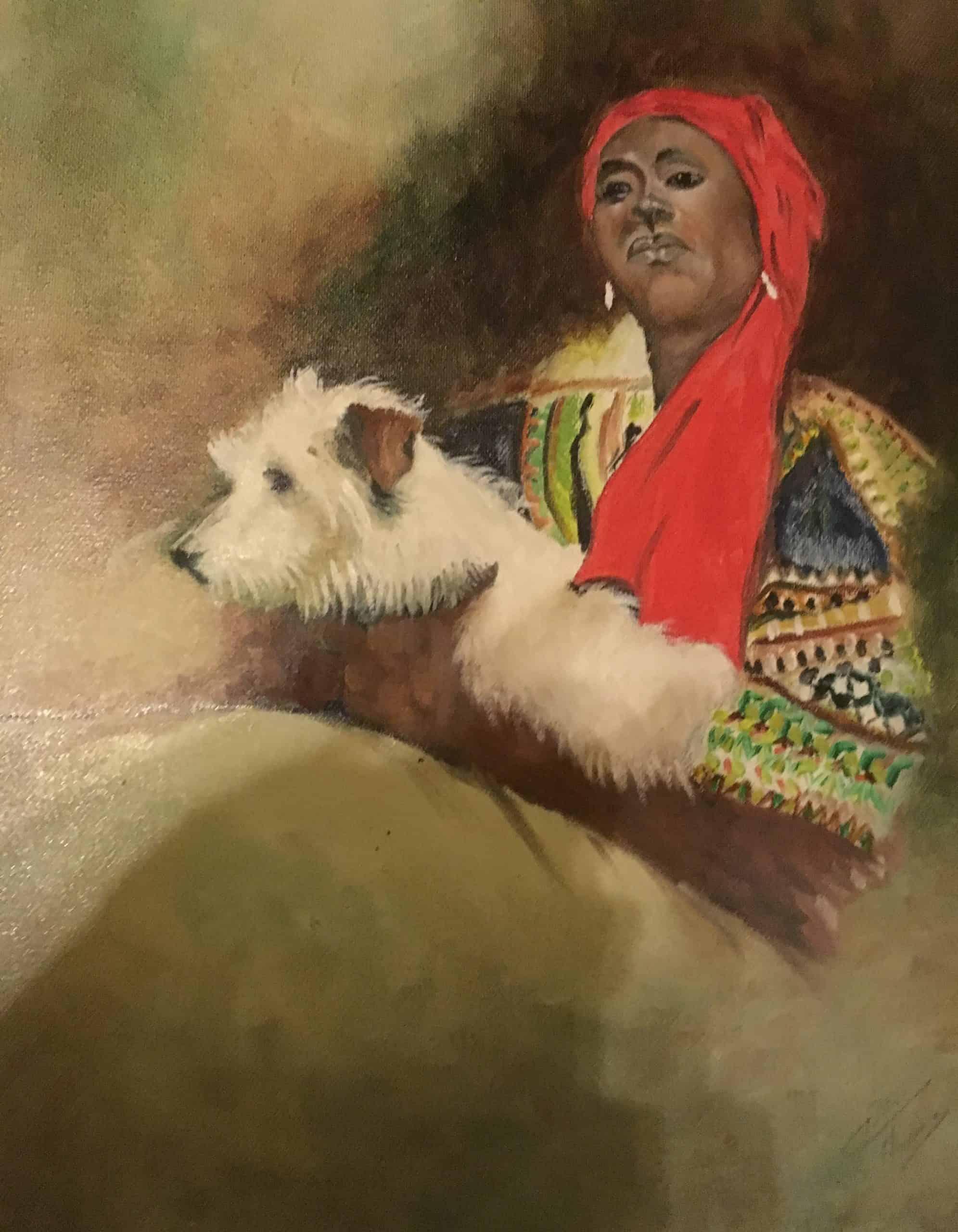 La métisse et son chien Durand Maurice