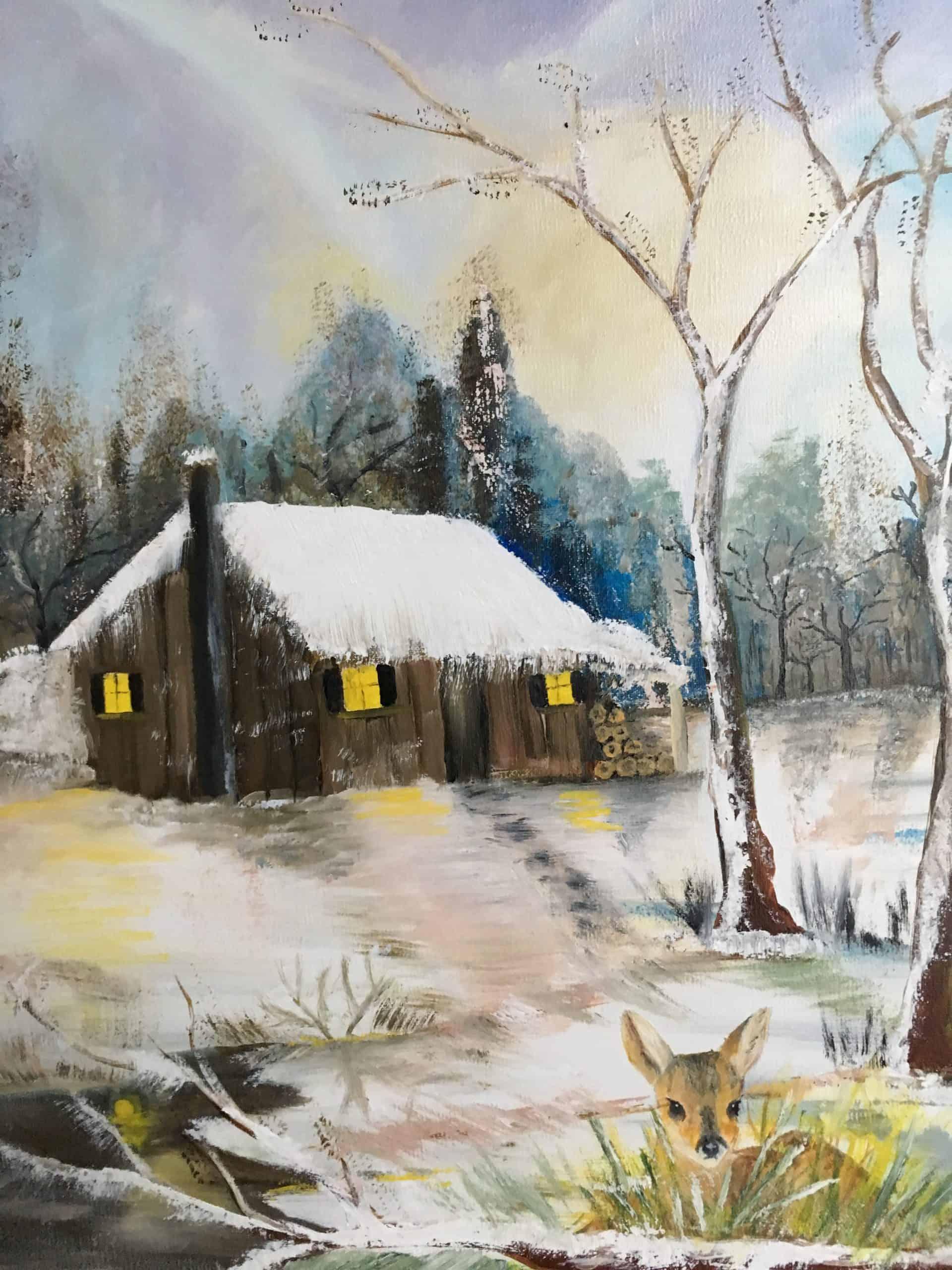Le faon dans la neige Durand Maurice