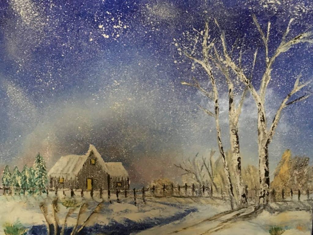Maison dans la neige DURAND Maurice