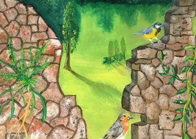 Les oiseaux sur le mur DURAND Maurice